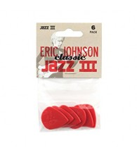 Медиаторы DUNLOP 47PEJ3N Eric Johnson Nylon Jazz III, 1.38 mm, упаковка 6 шт.